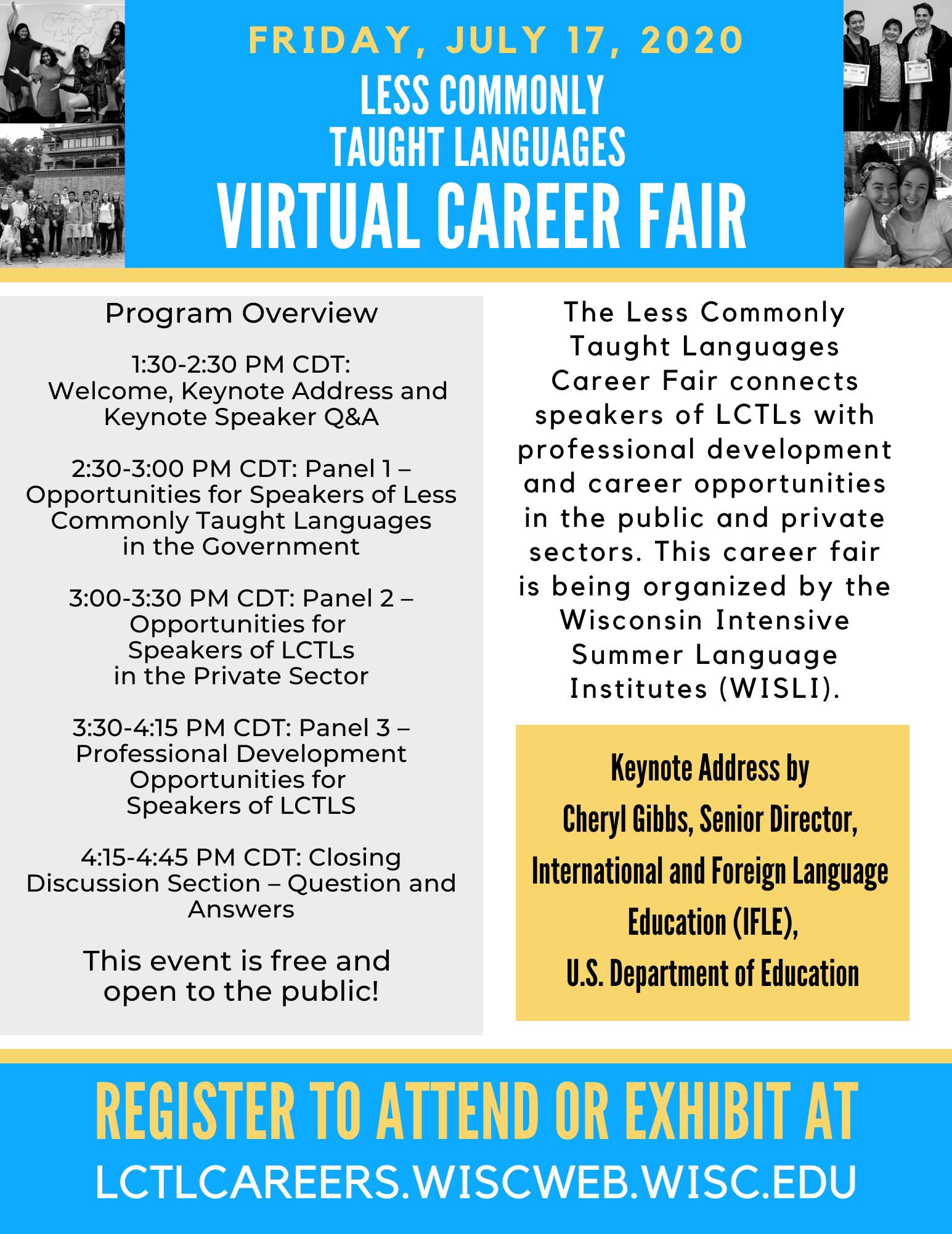 Updated LCTL Career Fair Schedule